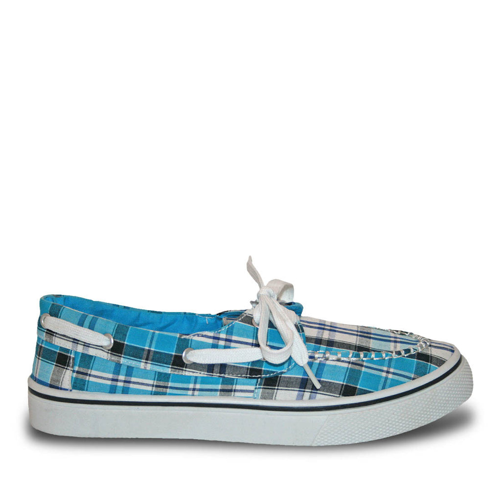 Women's Kaymann Boat Shoes - Turquoise Plaid