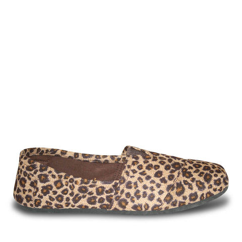 Women's Kaymann Exotic Flats - Black and Chestnut Leopard Print