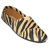 Women's Kaymann Exotic Loafers - Black and Tan Safari