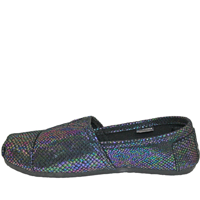 Women's Kaymann Exotic Loafers - Blue Iridescent Snake Print
