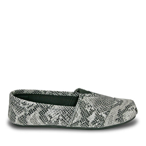 Women's Kaymann Exotic Loafers - Black and White Snake Print