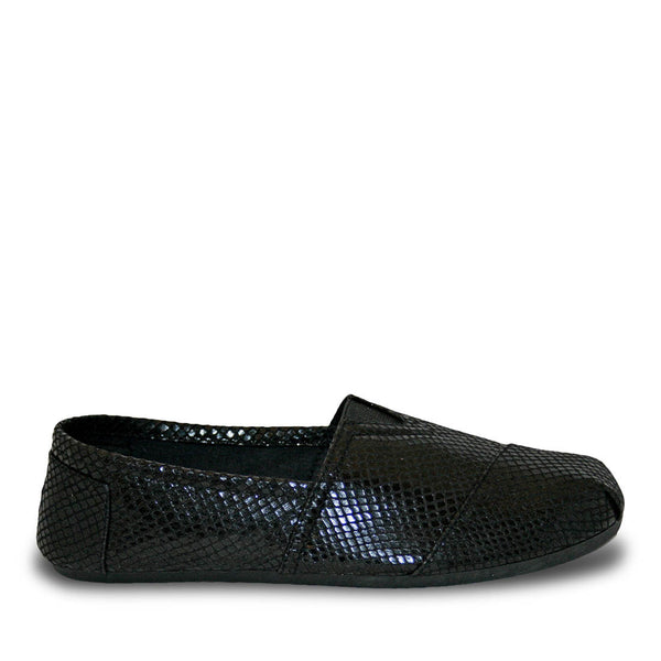 Women's Kaymann Exotic Loafers - Black Snake Print