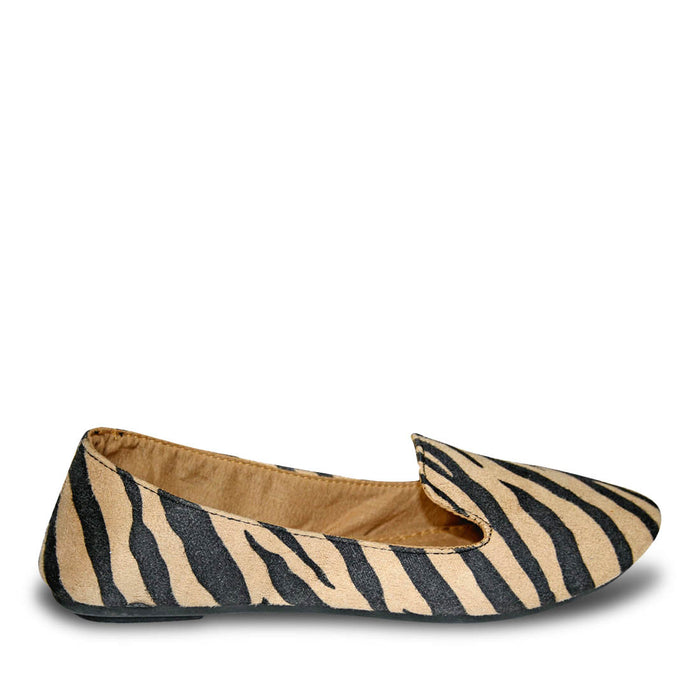Women's Kaymann Exotic Smoking Slippers - Safari Black and Tan