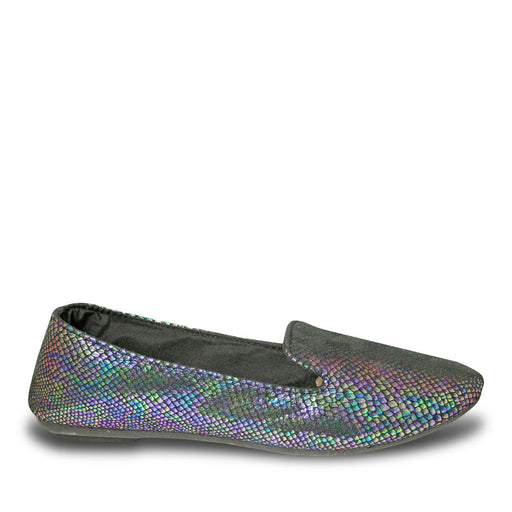 Women's Kaymann Exotic Smoking Slippers - Blue Iridescent Snake Print