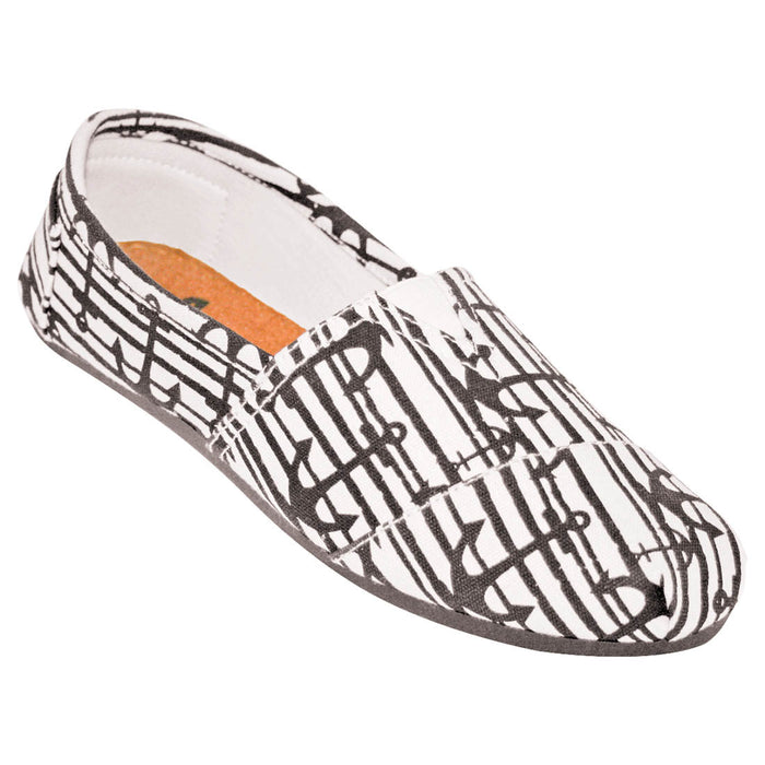 Women's Kaymann Canvas Loafers - Nautical Pattern