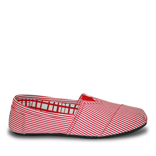Women's Kaymann Canvas Loafers - Red Stripes