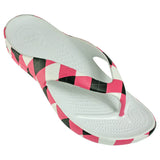 Women's Loudmouth Flip Flops - Pink and Black (Special Offer)