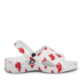 Kids' Slides - Canada (White/Red)