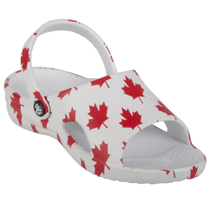 Toddlers' Slides - Canada (White/Red)