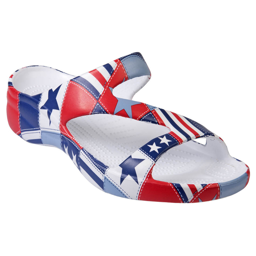 Women S Loudmouth Z Strap Sandals Betsy Ross Usa Dawgs