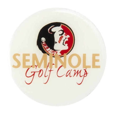 Metal School Dawg Tag Shoe Charm - Florida State Seminoles Golf Camp