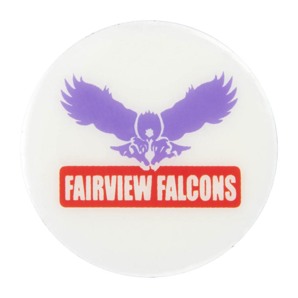 Metal School Dawg Tag Shoe Charm - Fairview Falcons