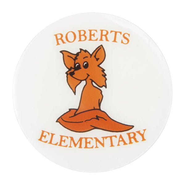 Metal School Dawg Tags Shoe Charms - Roberts Foxes