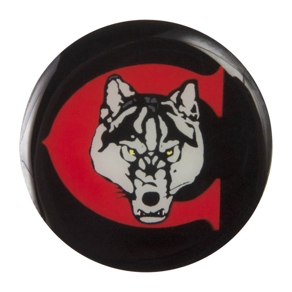 Metal School Dawg Tag Shoe Charm - Chiles Timberwolves