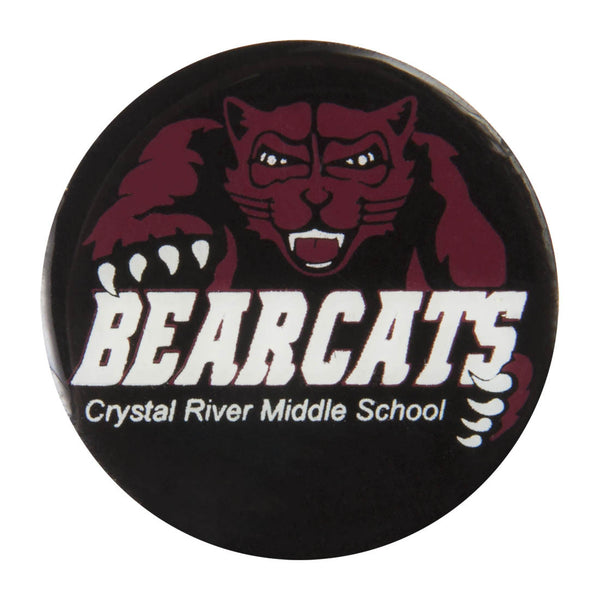 Metal School Dawg Tags Shoe Charms - Crystal River Middle School Bearcats