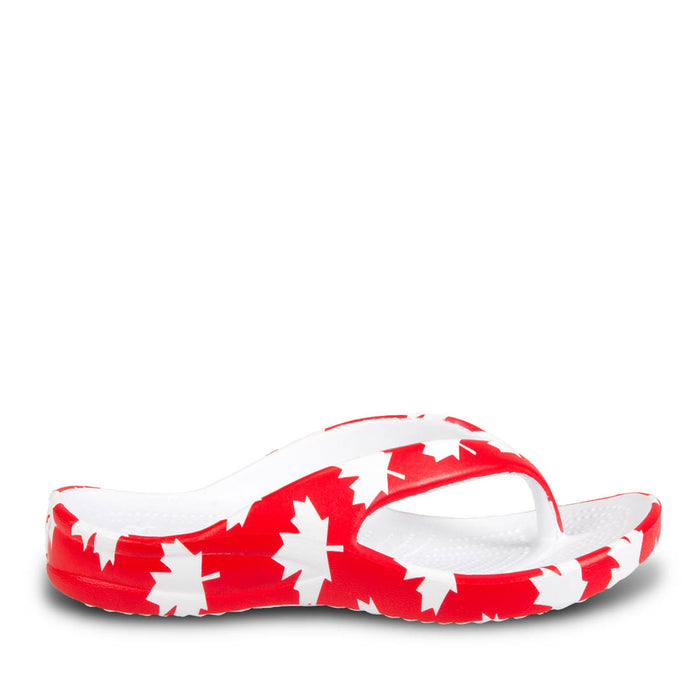 9b8cb8b42 Kids  Flip Flops - Canada (Red White) — USA DAWGS