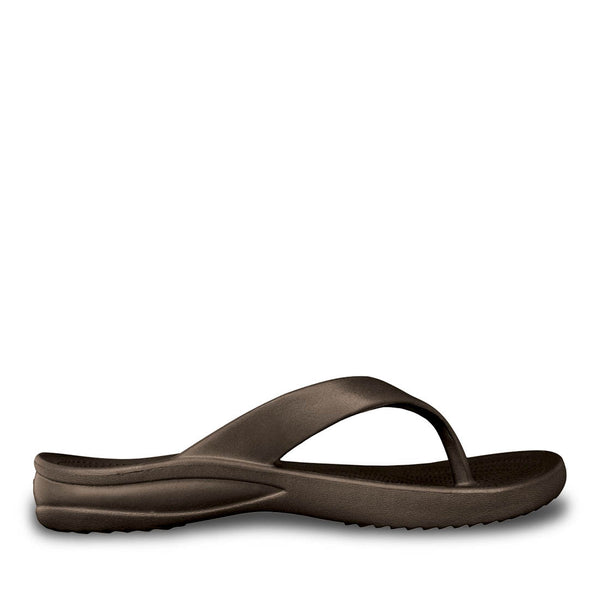 Women's Flip Flops - Dark Brown