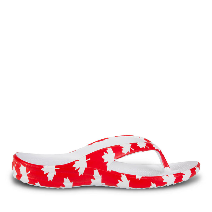 ed7bdfbf0 Women s Flip Flops - Canada (Red White) — USA DAWGS