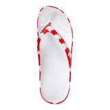 Women's Flip Flops - Canada (Red/White)