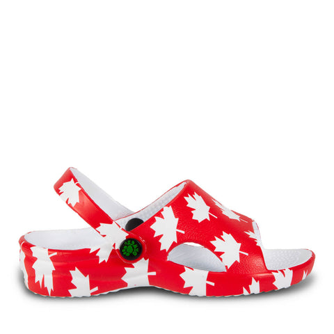 Kids' Slides - Canada (Red/White)