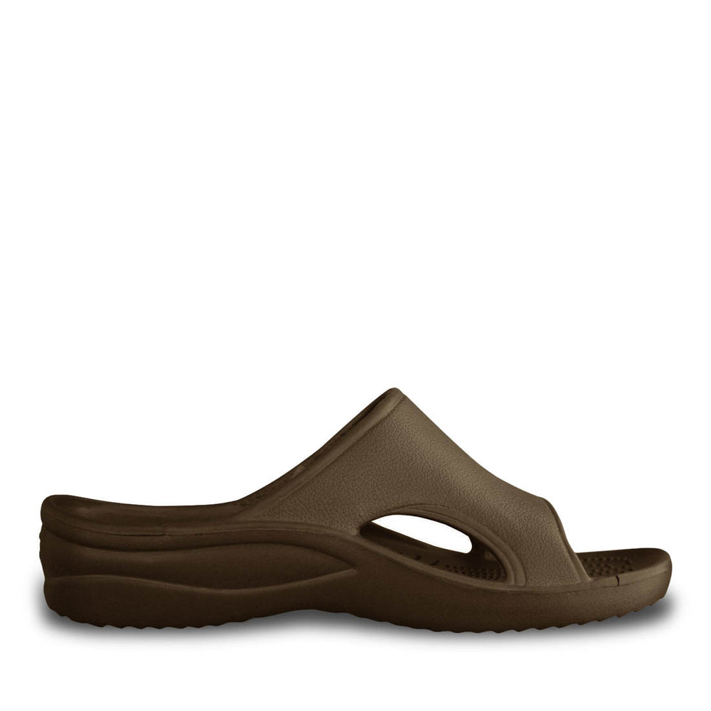 Women's Slides - Dark Brown