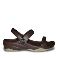 Kids' Premium 3-Strap Sandals - Dark Brown with Tan