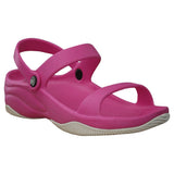 Women's Premium 3-Strap Sandals - Hot Pink with White (Special Offer)