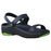 Women's Premium 3-Strap Sandals - Navy with Lime Green