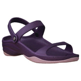 Women's Premium 3-Strap Sandals - Plum with Lilac (Special Offer)