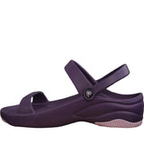 Women's Premium 3-Strap Sandals - Plum with Lilac