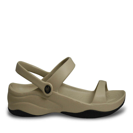 Women's Premium 3-Strap Sandals - Tan with Black