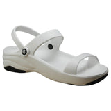 Women's Premium 3-Strap Sandals - White with Black (Special Offer)