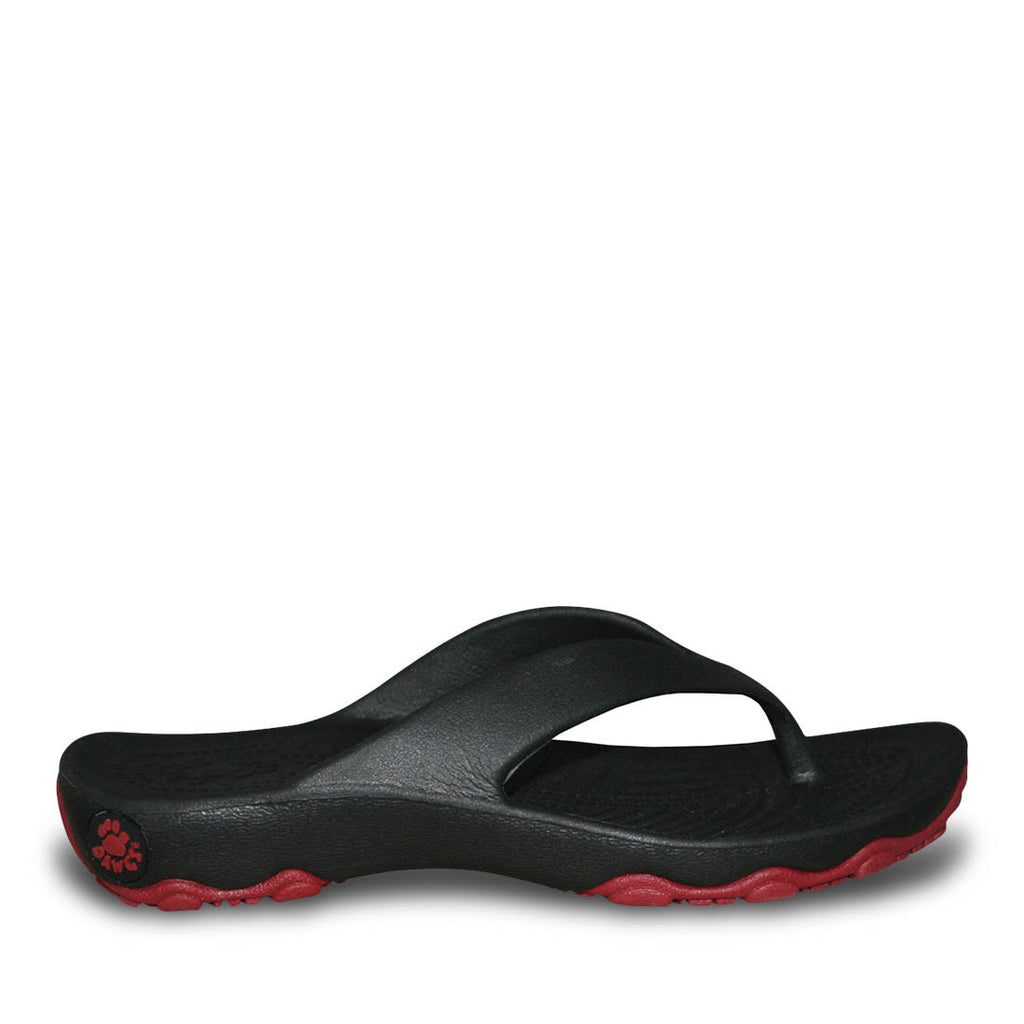 Boys' Premium Flip Flops - Black with Red