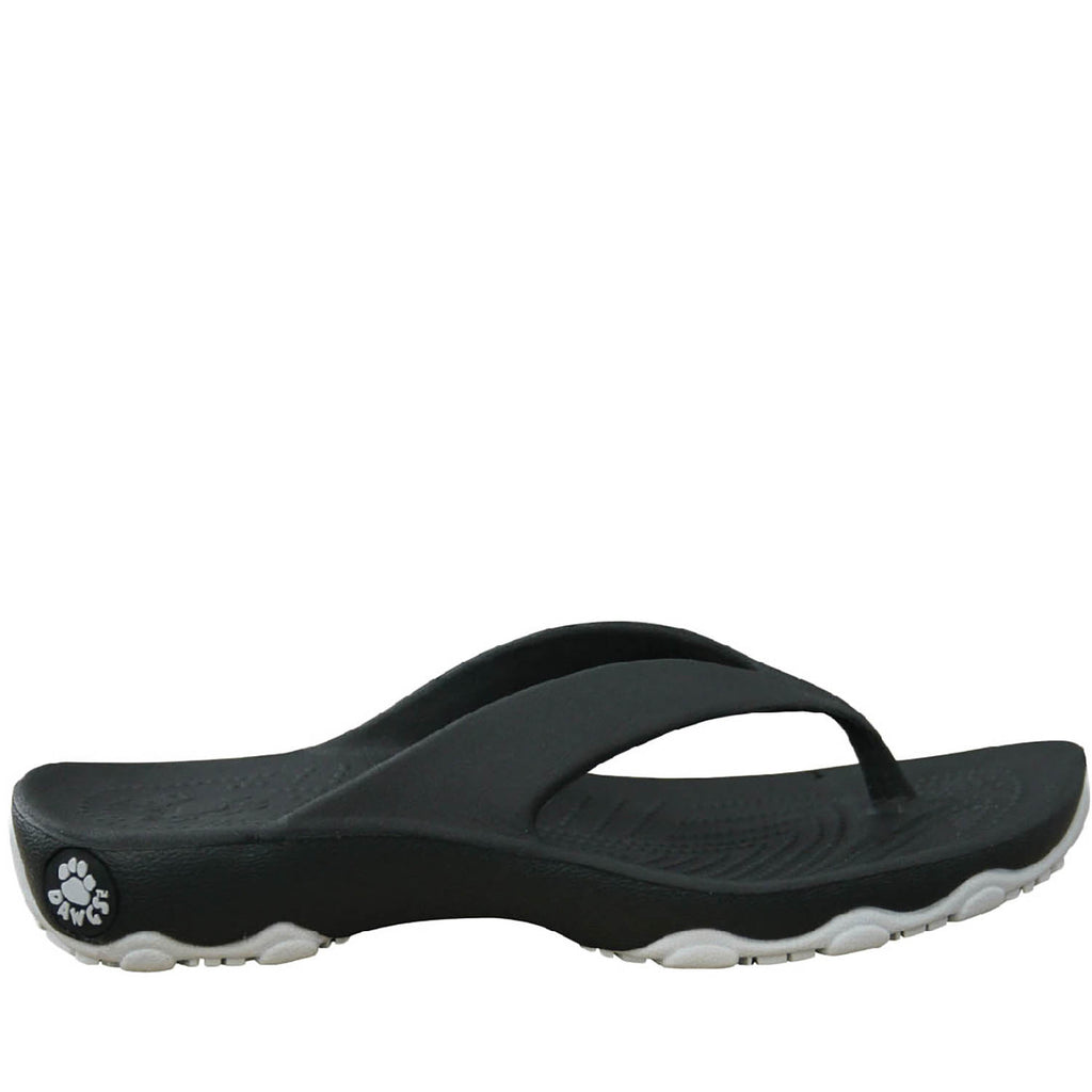 Boys' Premium Flip Flops - Black with Silver (Special Offer)
