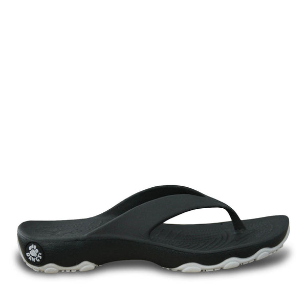 Boys' Premium Flip Flops - Black with Silver