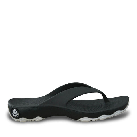 Boys' Premium Destination Flip Flops - Black with Silver