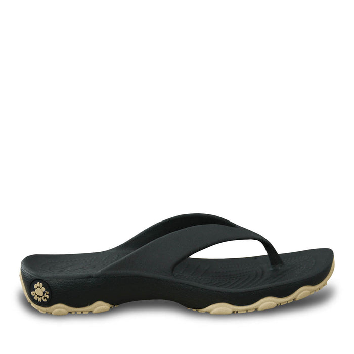 Boys' Premium Flip Flops - Dark Brown with Tan