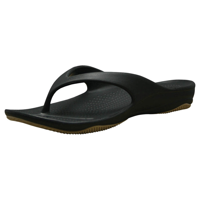Kids' Premium Flip Flops - Black with Tan