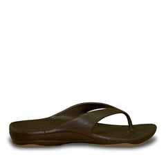 Kids' Premium Flip Flops - Dark Brown with Tan