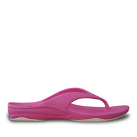 Kids' Premium Flip Flops - Hot Pink with White