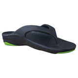 Kids' Premium Flip Flops - Navy with Lime Green
