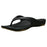 Women's Premium Flip Flops - Black with Tan