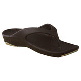 Women's Premium Flip Flops - Dark Brown with Tan (Special Offer)