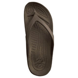 Women's Premium Flip Flops - Dark Brown with Tan
