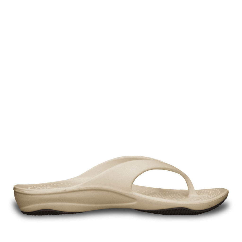 Women's Premium Flip Flops - Tan with Black