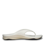 Women's Premium Flip Flops - White with Navy