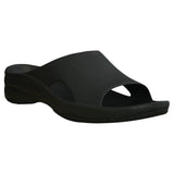Women's Premium Slides - Black with Black