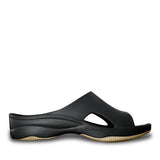 Women's Premium Slides - Black with Tan