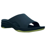 Women's Premium Slides - Navy with Lime Green (Special Offer)
