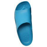 Women's Premium Slides - Peacock with White